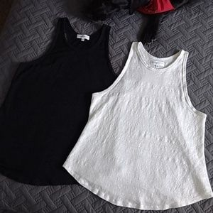 Set of 2 linen racerback tanks
